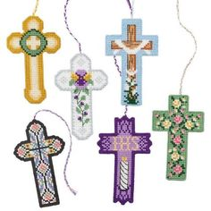 Craftways® Spring Cross Bookmarks Plastic Canvas Kit Was: $16.99                     Now: $12.99