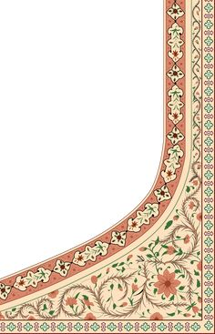 Border Pattern, Border Design, Pattern Art, Paisley Art, Celtic Art, Jacobean, Botanical Flowers, Textile Design, Shawls