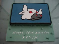Rugby team emblem celebration cake