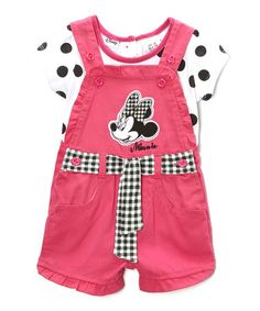 Another great find on #zulily! Pink Minnie Mouse Tee & Shortalls - Infant & Toddler #zulilyfinds