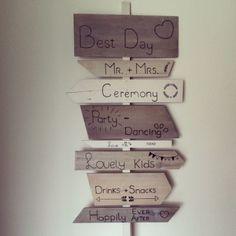 #wedding #decorations #Kesz #handmade #styling #signpost #wegwijspaal