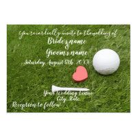 Golf Wedding Invitation Cards and Party Supplies - Thaninee Media Golf Party Favors, Golf Party Decorations, Modern Wedding Favors, Golf Wedding, Wedding Ideas, Postcard Wedding Invitation, Wedding Invitations, Invites, Golf Christmas Gifts
