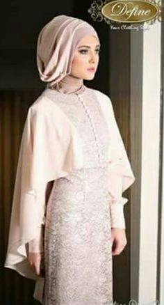 Pin Image by Celebrity Kusmia Dress Brukat, Kebaya Dress, Hijab Dress, Kebaya Muslim, Muslim Dress, Abaya Fashion, Modest Fashion, Moslem Fashion, Hijab Fashion Inspiration