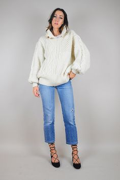 80's Cozy Mohair draped Cardigan sweater by NOIROHIOVINTAGE