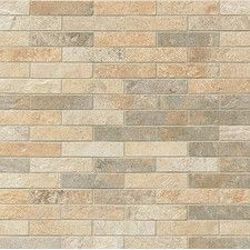 "Rok 1"" x 3"" Porcelain Mosaic Tile in Mix Colors"