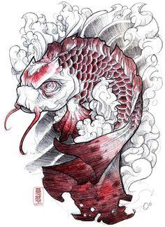 Nice koi tattoo design