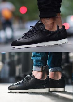 best service e90a9 41468 Nike Cortez Leather PRM QS TZ Black