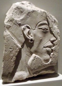 Relief portrait of Akhenaten in the typical Amarna period style.