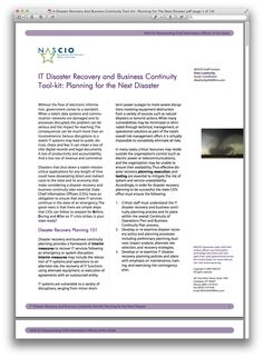 Free Safety Business Continuity Plan Templates  Tools