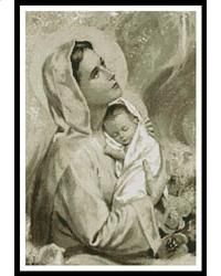 Mary and Baby Jesus (Sepia)