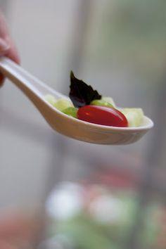 a one-bite, fresh summer salad: the perfect amuse bouche
