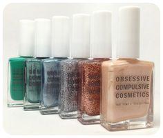 Obsessive Compulsive Cosmetics The Garden nail polish collection.