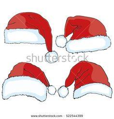 Santa hat - vector illustration