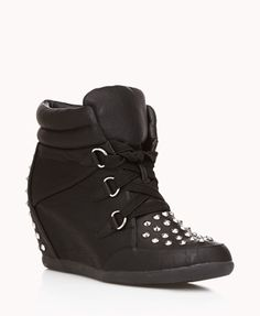Spiked Wedge Sneakers | FOREVER21 Are you wearing wedges or sneakers today? Or both?