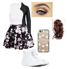 """""""Floral"""" by harry-potter-394 ❤ liked on Polyvore featuring Topshop, New Look, Converse and Casetify"""
