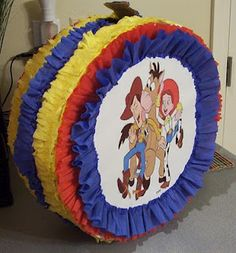 Great tutorial on how to make a pinata. Just change out the picture in front to fit your theme. Cute toy story party too.