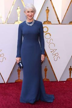 Helen Mirren attends the 90th Annual Academy Awards in Hollywood on March 4, 2018. - David Fisher/REX/Shutterstock