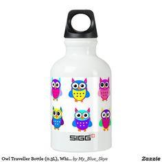 Owl Traveller Bottle (0.3L), White