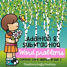 24 word problems for 2nd grade.-Great for center activities, review practice, morning work, independent practice, and more.-Answer key included-Both black and white and colored versions included. First Grade Activities, Math Activities, Elementary Teacher, Elementary Education, Activity Centers, Math Centers, Teaching Resources, Teaching Ideas, Math Talk