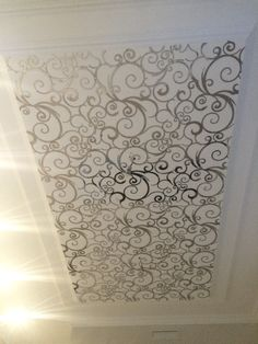 Stainless steel laser cut ceiling