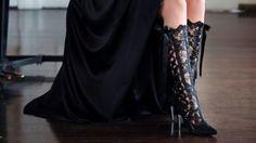 Beatrice Elliot Black Lace Wedding Boots