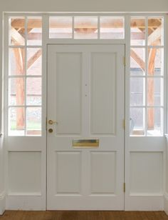 Victorian door with glazed side panels home pinterest traditional four panel front door with part glazed side lights planetlyrics Image collections