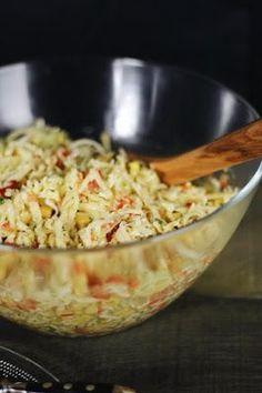Käsesalat - endlich wieder Grillen, Rezept Käsesalat, Salat zum grillen, Gauda-Käsesalat, Käsesalat mit Porree und Paprika, Mais