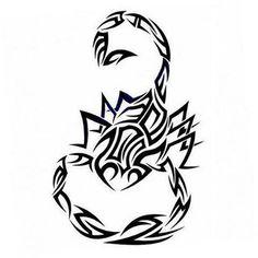 Best Black Tribal Scorpio Tattoo Design
