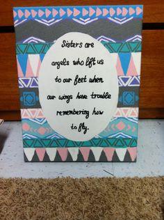 Tribal Print Quote Canvas