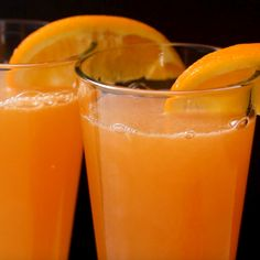 Instant Energy Ginger Citrus Spritz Recipe by Tasty Juice Smoothie, Smoothies, Cocktail Drinks, Cocktail Ideas, Cocktail Recipes, Drink Recipes, Cocktails, New Recipes, Cooking Recipes