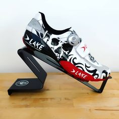 "New release on lake cycling shoes : Skull, rose and tribal tattoo asked by ""Pat the Pirat"" 💀☠️🏴‍☠️ . Lake Cycling Shoes, Road Bike Shoes, Cycling Bikes, Cycling Outfit, Cycling Clothes, Air Max Sneakers, Sneakers Nike, Bike Wear, Cycle Chic"