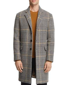 43b0cf8e84d Sandro Houndstooth-Plaid Overcoat - 100% Exclusive EDITORIAL - Men s Fall  Trends - Bloomingdale s