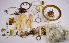 The 24 best antique lamps and parts images on pinterest antique antique vintage lot of lamp parts oil electric wicks parts aloadofball Choice Image