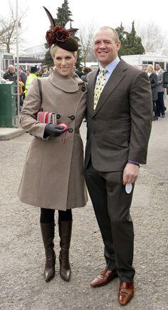 3/14/2012: Zara Phillips & Mike Tindall attend the Cheltenham Festival (Cheltenham, Gloucestershire)