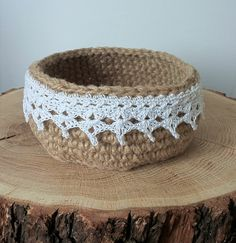 Crochet basket Jute Basket Home Decor by LuxuriousCrochetShop     Crochet basket Jute Basket Home Decor by LuxuriousCrochetShop
