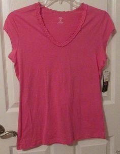 Ladies French Dressing Sleepwear Top, Ruffle Neck, Size Medium, NWT's #FrenchDressing #Sleepshirt