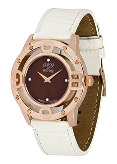 Moog Paris0309 Damen-Armbanduhr, Zifferblatt Braun, Armband Weiß, Rindsleder, hergestellt in Frankreich, M41762-003 - http://uhr.haus/moog-paris/moog-paris-0309-damen-armbanduhr-zifferblatt-in-2