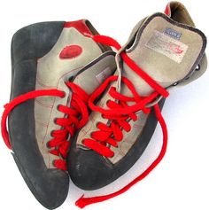 The climbing shoe of the These babies changed the game. Climbing Shoes, 1980s, Fire, Magic, Babies, Sneakers, Design, Head Start, Tennis
