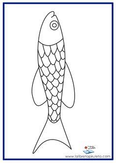 fichas para imprimir y colorear, mar, pez, infantil y primaria