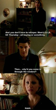 Buffy is probably my favorite female protagonist of all time. Seriously, how can you not love her?!