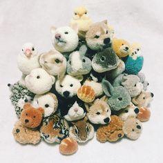 Japanese Pom Pom Animals | 148 best images about Pom Pom Animals on Pinterest | Pom poms, Yarn crafts and Mice