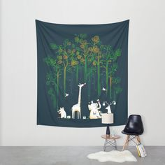 Re-paint the Forest Wall Tapestry by Budi Satria Kwan | Society6