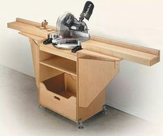 Compound Miter Saw Cabinet 3 #woodworkingbench