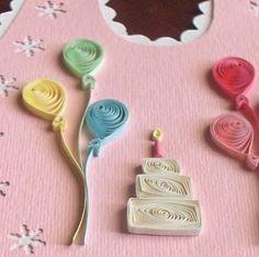 Birthday w/ balloons & cake