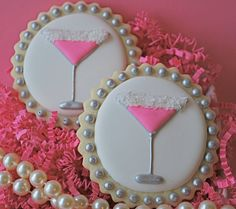 Pink Martini Decorated Sugar Cookies