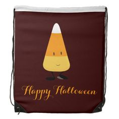 Halloween with Smiling Candy Corn Backpacks
