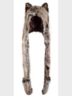 "Grey ""Wolf Warrior"" hood, $139 at spirithoods.com"