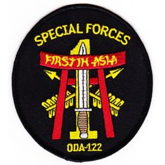 ODA-122 Patch - Version A  United States ARMY Co C 1st Battalion 1st Special Forces Group Operational Detachment A