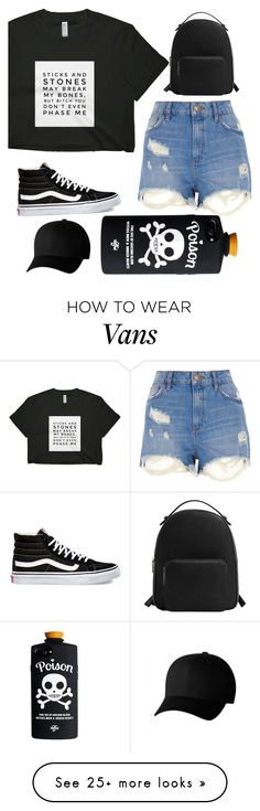 """Words on Shirt"" by sabrina-espinosa-1 on Polyvore featuring Vans, River Island, MANGO and Flexfit"