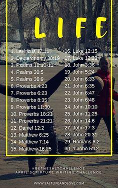 saltlifeandlove | SCRIPTURE WRITING